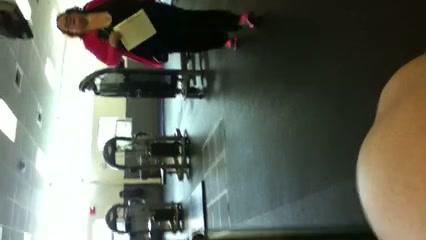Betrapt in de sportschool