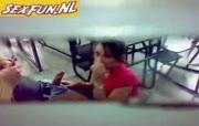 studente worden stiekem gefilmd bij het neuken